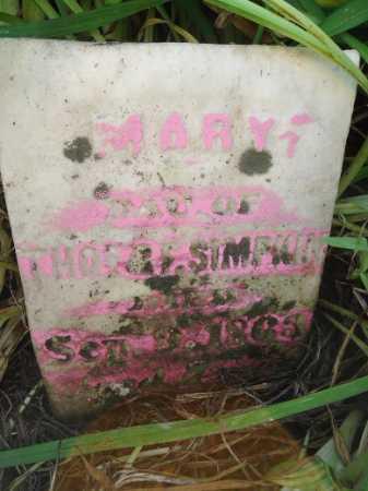 SIMPKIN, MARY - Morgan County, Illinois | MARY SIMPKIN - Illinois Gravestone Photos