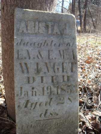 WINGET, ARISTA - Morgan County, Illinois | ARISTA WINGET - Illinois Gravestone Photos