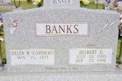 CORDRAY BANKS, HELEN M - Moultrie County, Illinois | HELEN M CORDRAY BANKS - Illinois Gravestone Photos