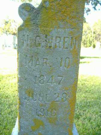 WREN, NATHANIEL GREENE - Moultrie County, Illinois | NATHANIEL GREENE WREN - Illinois Gravestone Photos