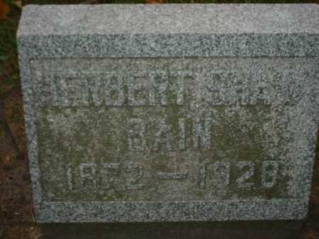 BAIN, HERBERT SHAW - Ogle County, Illinois   HERBERT SHAW BAIN - Illinois Gravestone Photos