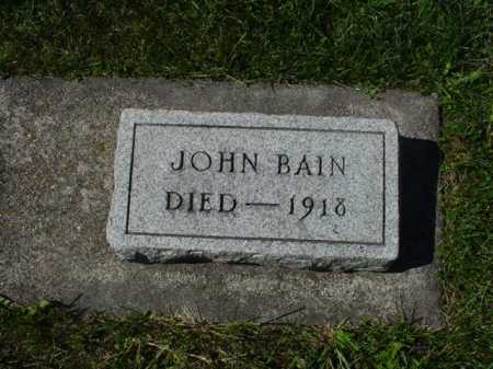 BAIN, JOHN - Ogle County, Illinois   JOHN BAIN - Illinois Gravestone Photos