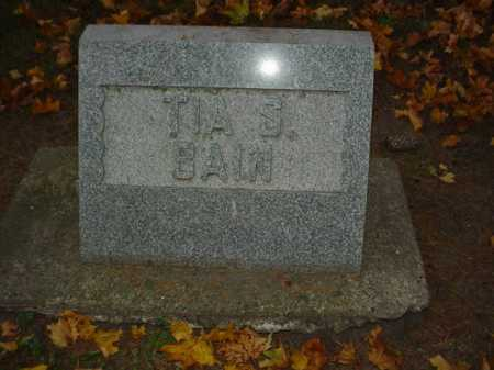 BAIN, TIA S. - Ogle County, Illinois | TIA S. BAIN - Illinois Gravestone Photos