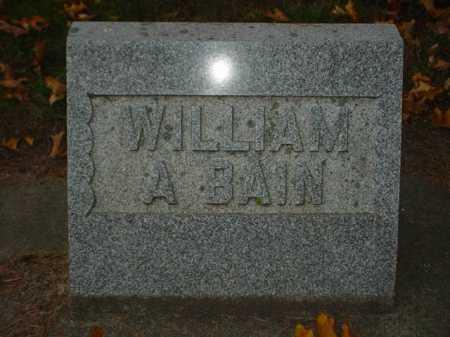 BAIN, WILLIAM A. - Ogle County, Illinois | WILLIAM A. BAIN - Illinois Gravestone Photos