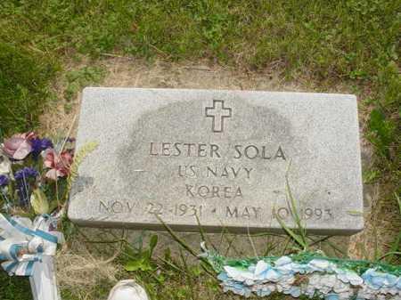 SOLA, LESTER - Ogle County, Illinois   LESTER SOLA - Illinois Gravestone Photos