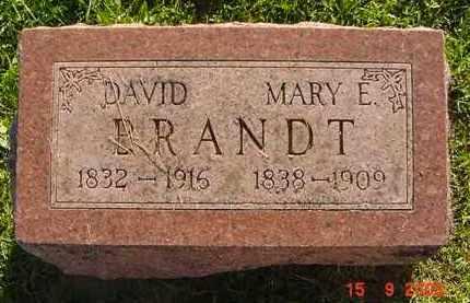 BRANDT, MARY E. - Peoria County, Illinois | MARY E. BRANDT - Illinois Gravestone Photos