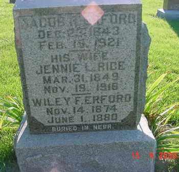 ERFORD, WILEY F. - Peoria County, Illinois | WILEY F. ERFORD - Illinois Gravestone Photos