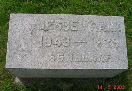 FRANK, JESSE - Peoria County, Illinois | JESSE FRANK - Illinois Gravestone Photos