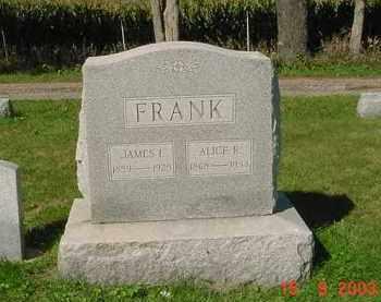 FRANK, JAMES I. - Peoria County, Illinois | JAMES I. FRANK - Illinois Gravestone Photos