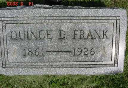 FRANK, QUINCE D. - Peoria County, Illinois | QUINCE D. FRANK - Illinois Gravestone Photos