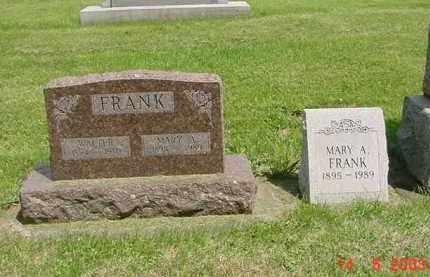 FRANK, MARY A. - Peoria County, Illinois | MARY A. FRANK - Illinois Gravestone Photos