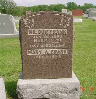 FRANK, WILBUR - Peoria County, Illinois | WILBUR FRANK - Illinois Gravestone Photos