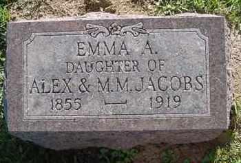 JACOBS, EMMA A. - Peoria County, Illinois | EMMA A. JACOBS - Illinois Gravestone Photos