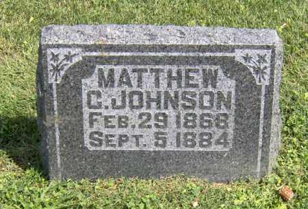 JOHNSON, MATTHEW COLLIER - Peoria County, Illinois | MATTHEW COLLIER JOHNSON - Illinois Gravestone Photos