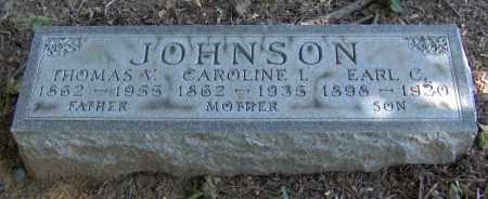 JOHNSON, THOMAS VALENTINE - Peoria County, Illinois | THOMAS VALENTINE JOHNSON - Illinois Gravestone Photos
