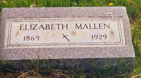 MALLEN, ELIZABETH - Peoria County, Illinois | ELIZABETH MALLEN - Illinois Gravestone Photos