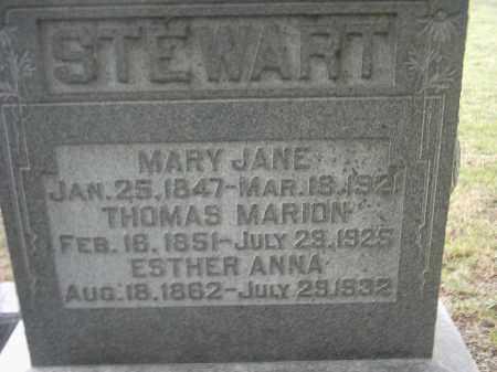 STEWART, ESTHER ANN - Peoria County, Illinois | ESTHER ANN STEWART - Illinois Gravestone Photos