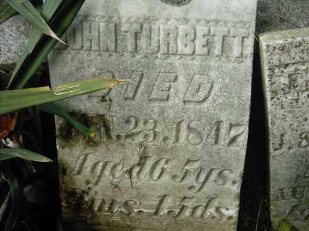 TURBETT, JOHN - Peoria County, Illinois | JOHN TURBETT - Illinois Gravestone Photos