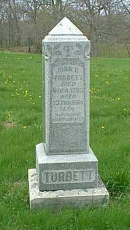 TURBETT, JOHN B - Peoria County, Illinois | JOHN B TURBETT - Illinois Gravestone Photos