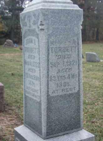 TURBETT, MARTHA - Peoria County, Illinois | MARTHA TURBETT - Illinois Gravestone Photos