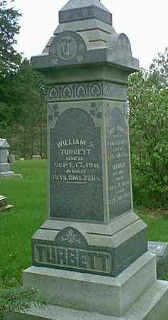 TURBETT, WILLIAM S - Peoria County, Illinois | WILLIAM S TURBETT - Illinois Gravestone Photos