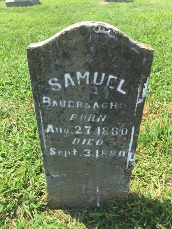 BAUERSACHS, SAMUEL - Perry County, Illinois   SAMUEL BAUERSACHS - Illinois Gravestone Photos