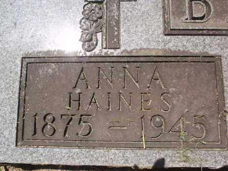 BECK, ANNA (CLOSE-UP) - Perry County, Illinois | ANNA (CLOSE-UP) BECK - Illinois Gravestone Photos