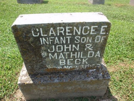 BECK, CLARENCE E - Perry County, Illinois | CLARENCE E BECK - Illinois Gravestone Photos