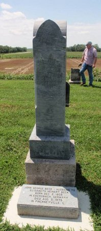 BECK, ELISABETH - Perry County, Illinois | ELISABETH BECK - Illinois Gravestone Photos