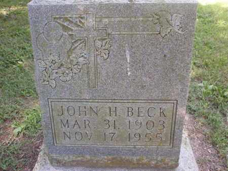 BECK, JOHN H - Perry County, Illinois   JOHN H BECK - Illinois Gravestone Photos