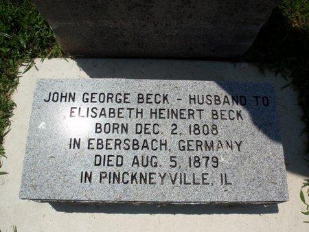 BECK, JOHN GEORGE - Perry County, Illinois   JOHN GEORGE BECK - Illinois Gravestone Photos