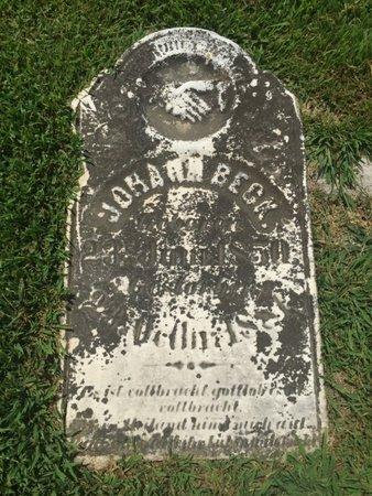 BECK, JOHANN - Perry County, Illinois   JOHANN BECK - Illinois Gravestone Photos