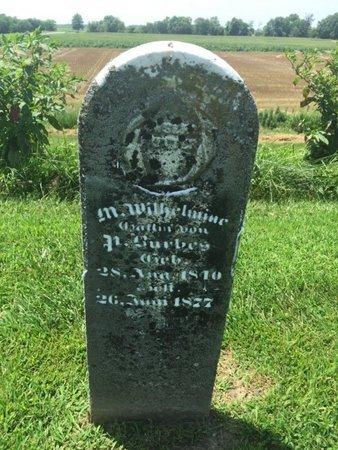 BURBES, M WILHELMINE - Perry County, Illinois | M WILHELMINE BURBES - Illinois Gravestone Photos