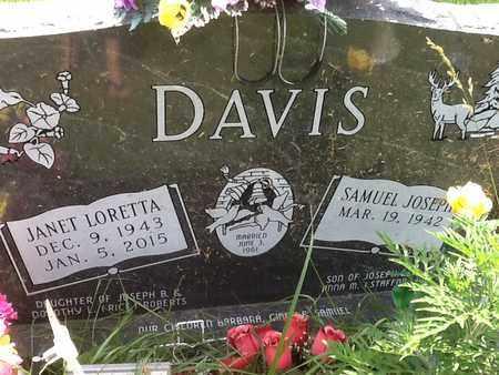 DAVIS, JANET LORETTA - Perry County, Illinois | JANET LORETTA DAVIS - Illinois Gravestone Photos