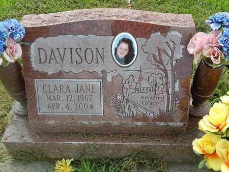 DAVISON, CLARA JANE - Perry County, Illinois | CLARA JANE DAVISON - Illinois Gravestone Photos