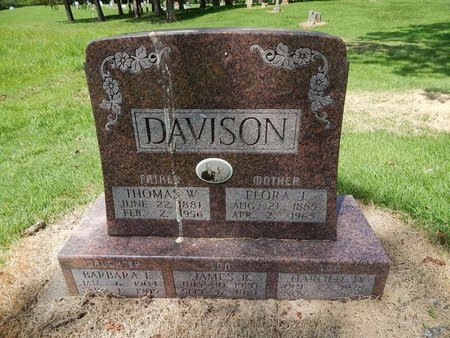 TAYLOR DAVISON, FLORA JANE - Perry County, Illinois | FLORA JANE TAYLOR DAVISON - Illinois Gravestone Photos