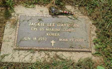 DAVISON (VETERAN KOR), JACKIE LEE (NEW) - Perry County, Illinois | JACKIE LEE (NEW) DAVISON (VETERAN KOR) - Illinois Gravestone Photos