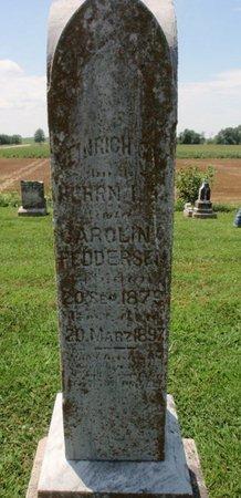FEDDERSEN, HEINRICH G - Perry County, Illinois   HEINRICH G FEDDERSEN - Illinois Gravestone Photos