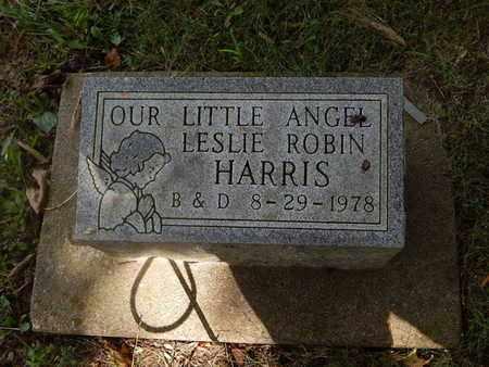 HARRIS, LESLIE ROBIN - Perry County, Illinois | LESLIE ROBIN HARRIS - Illinois Gravestone Photos