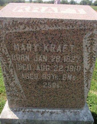 KRAFT, MARY - Perry County, Illinois | MARY KRAFT - Illinois Gravestone Photos