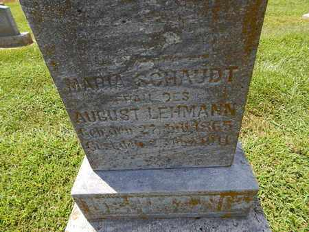 LEHMANN, MARIA (CLOSE-UP) - Perry County, Illinois | MARIA (CLOSE-UP) LEHMANN - Illinois Gravestone Photos