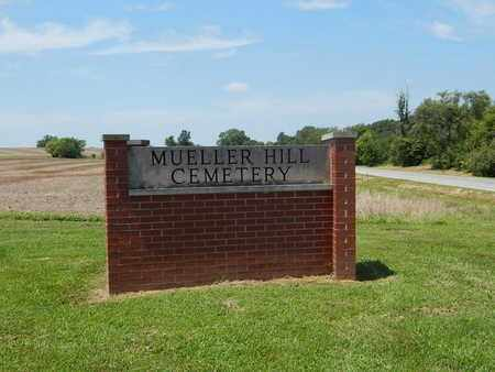 *MUELLER HILL CEMETERY, SIGN - Perry County, Illinois | SIGN *MUELLER HILL CEMETERY - Illinois Gravestone Photos