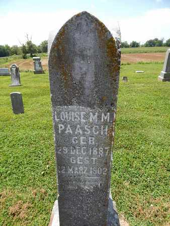 PAASCH, LOUISE M M - Perry County, Illinois | LOUISE M M PAASCH - Illinois Gravestone Photos