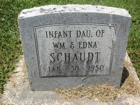 SCHAUDT, INFANT DAUGHTER - Perry County, Illinois | INFANT DAUGHTER SCHAUDT - Illinois Gravestone Photos