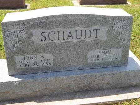 SCHAUDT, EMMA - Perry County, Illinois   EMMA SCHAUDT - Illinois Gravestone Photos