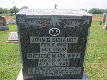 SCHAUDT, JOHN G - Perry County, Illinois | JOHN G SCHAUDT - Illinois Gravestone Photos