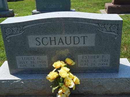 SCHAUDT, ESTHER F - Perry County, Illinois | ESTHER F SCHAUDT - Illinois Gravestone Photos