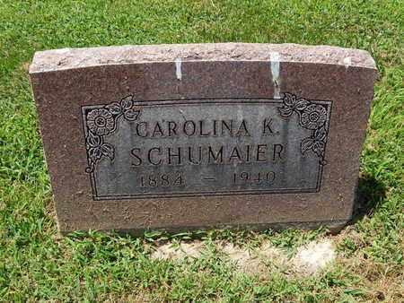 SCHUMAIER, CAROLINA K - Perry County, Illinois | CAROLINA K SCHUMAIER - Illinois Gravestone Photos