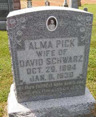 PICK SCHWARZ, ALMA - Perry County, Illinois   ALMA PICK SCHWARZ - Illinois Gravestone Photos