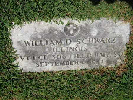 SCHWARZ (VETERAN), WILLIAM D (NEW) - Perry County, Illinois   WILLIAM D (NEW) SCHWARZ (VETERAN) - Illinois Gravestone Photos